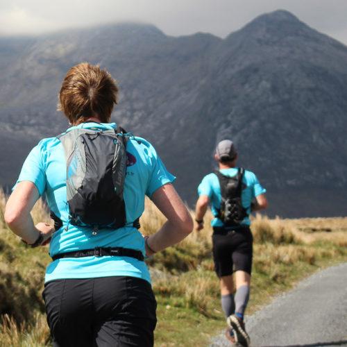 course entre les montagnes