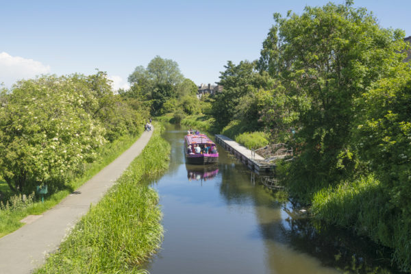 The Union Canal runs from Falkirk to Edinburgh and was originally constructed to bring minerals like coal to the capital and is now primarily used for leisure purposes